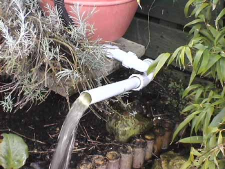 Homemade diy fish pond biofilter eliminate green water how for Garden pond overflow pipe