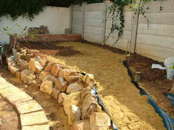 Stream Bed Layers and Pond Liner